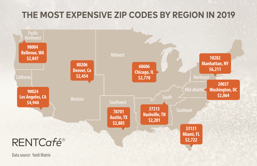 The most expensive ZIP Codes in America by region
